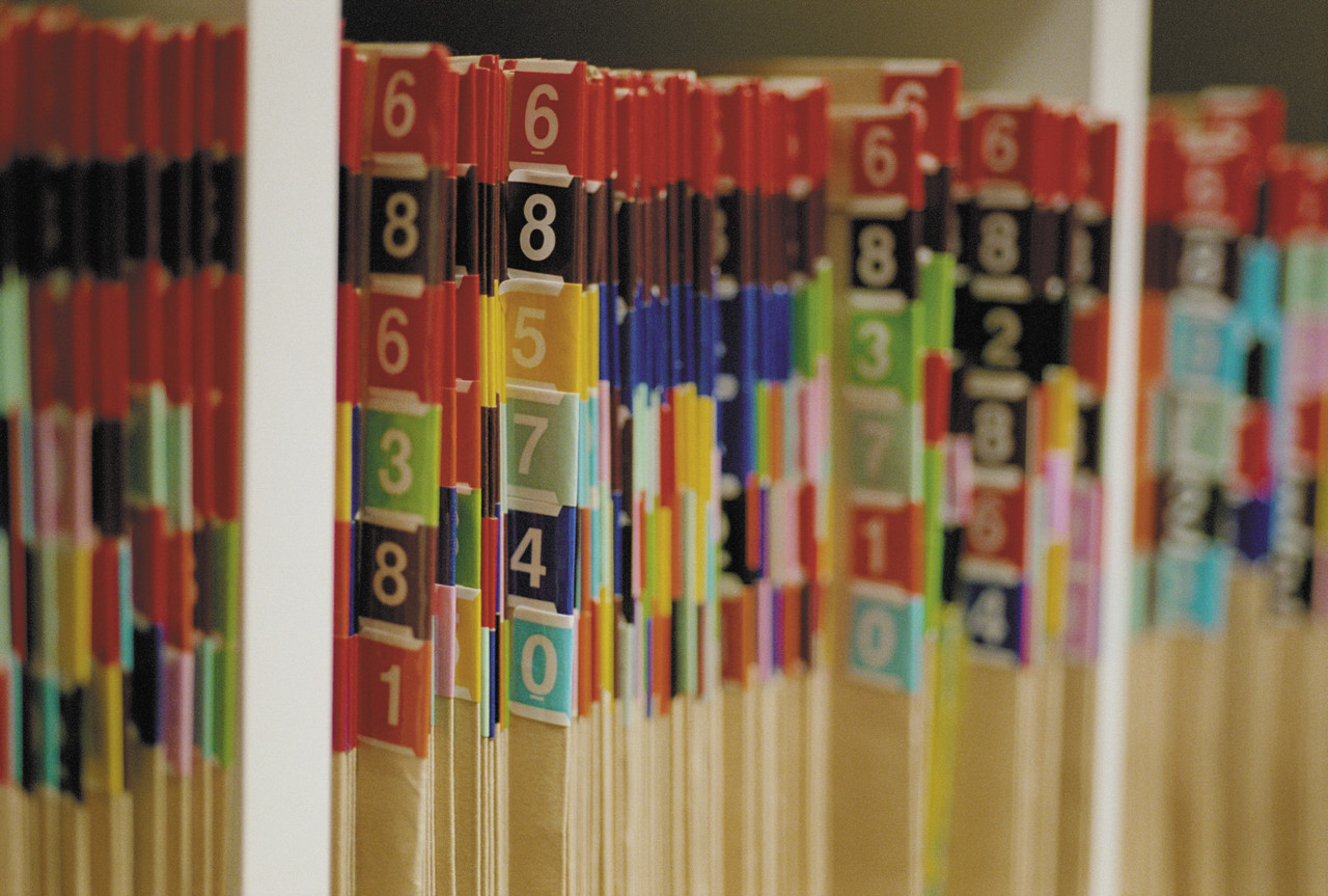 Shelves of Medical Records